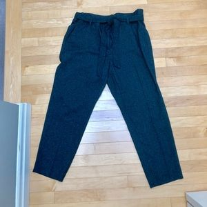 Comfy & classy light weight tweed trouser blue -14